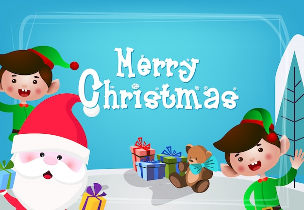 Christmas festive card design