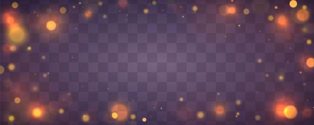 Christmas festive purple and golden luminous background