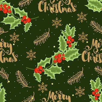 Christmas festive seamless pattern