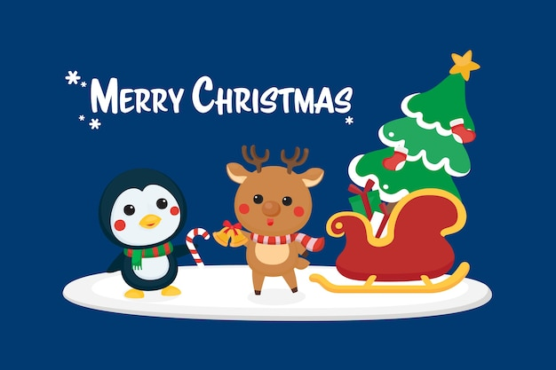 Christmas festive template. greeting card for christmas and happy new year.