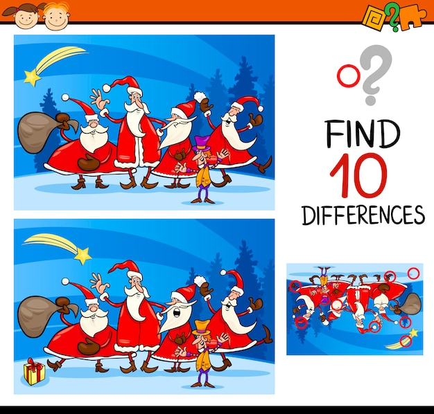 Christmas find differences task