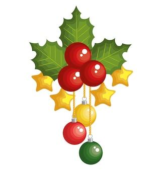 Christmas fir decoration card vector illustration design