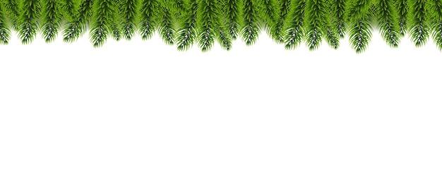 Christmas fir tree garland