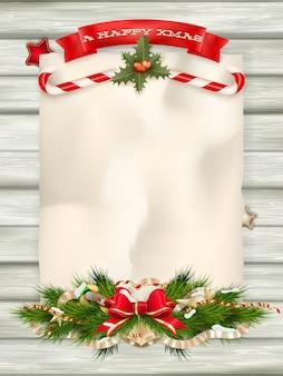 クリスマスのモミの木。