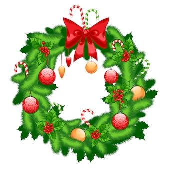 Рождественский еловый венок