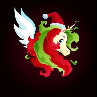 Christmas fire magic unicorn