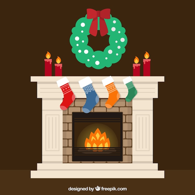 Christmas Fireplace Vectors, Photos and PSD files