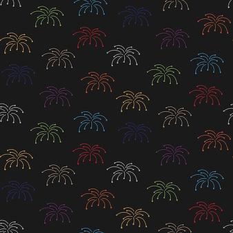 Christmas fireworks seamless pattern