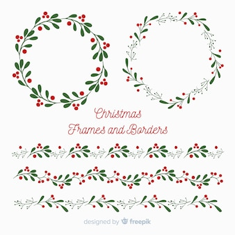 Christmas flat frames and borders