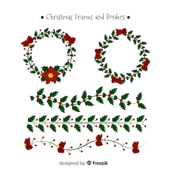 Christmas flat frames collection