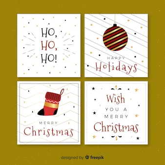 Christmas flat greetings cards collection