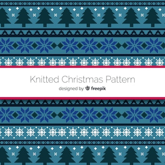 Christmas flat knitted pattern