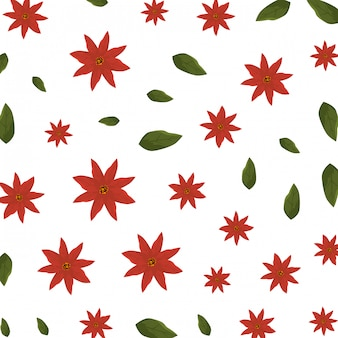 Christmas floral decoration pattern