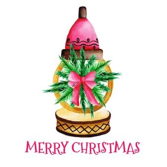 Рождественская цветочная лампа