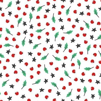 クリスマスの花のシームレスなパターン。