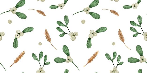 크리스마스 꽃 원활한 패턴