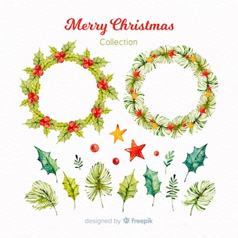 Christmas floral wreath collection