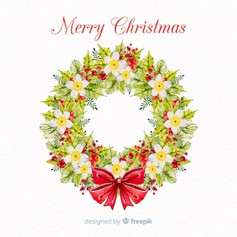 Christmas floral wreath
