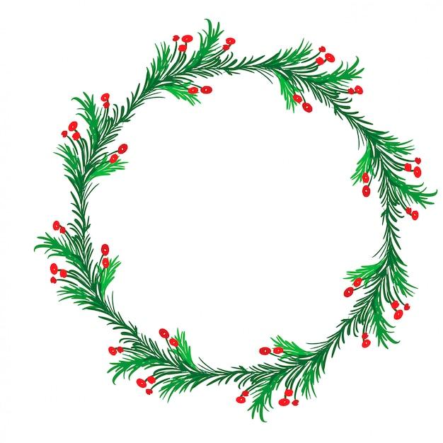 Рождество процветать каллиграфия винтажная рамка праздник