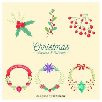 크리스마스 꽃과 화환