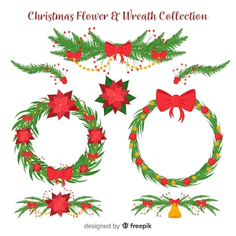 Christmas flowers & wreaths collection