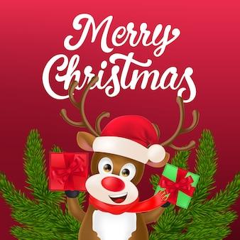 クリスマスチラシデザイン 無料ベクター