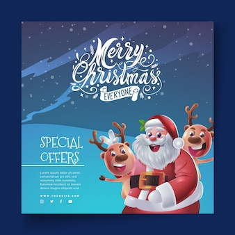 Christmas flyer square
