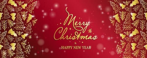 Рождественские листовки баннер плакат с лесом для новогодних праздников зимние предложения и скидки