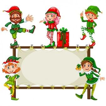 Christmas frame design