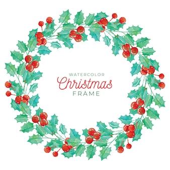 水彩フレームのクリスマスフレーム