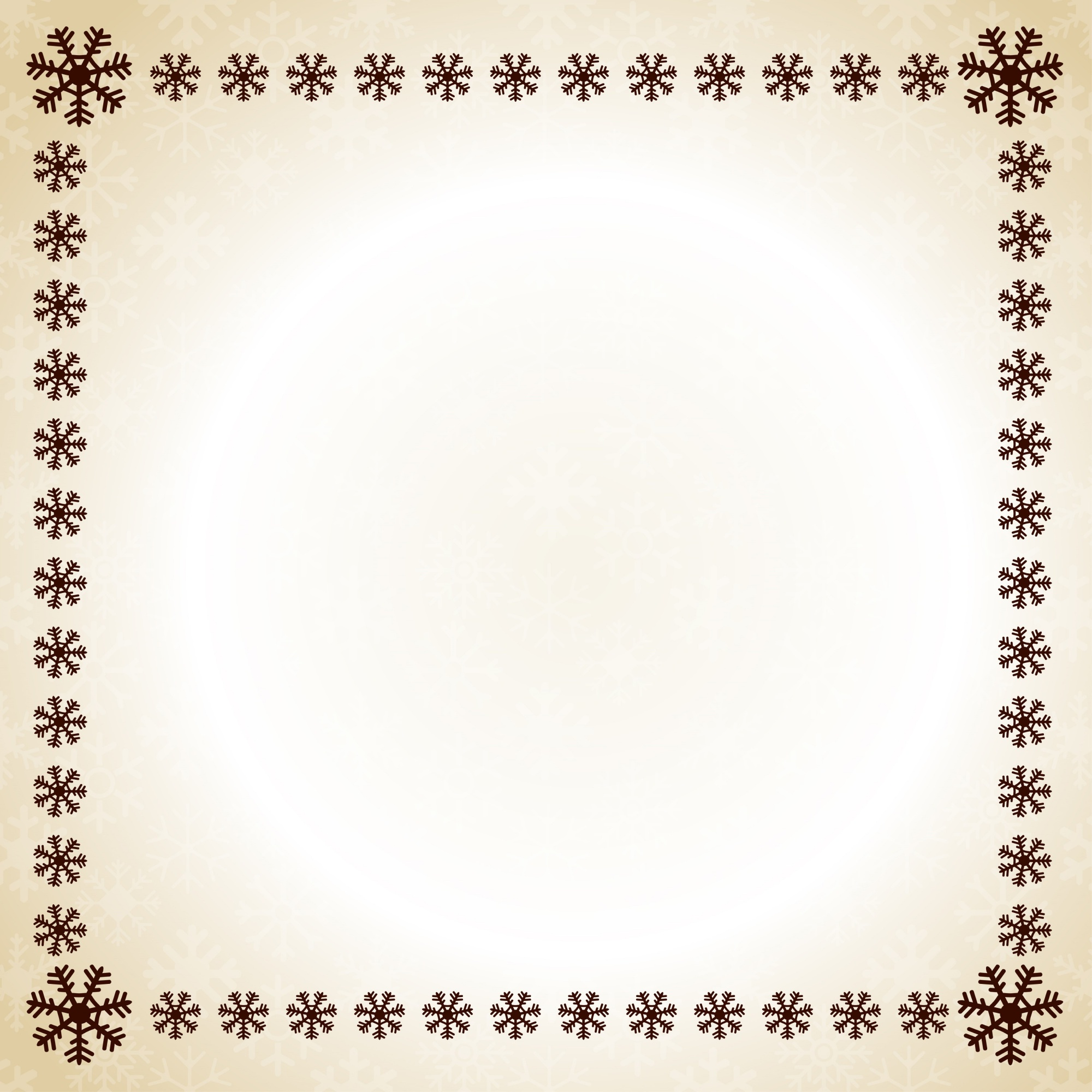 Christmas frame snow flakes