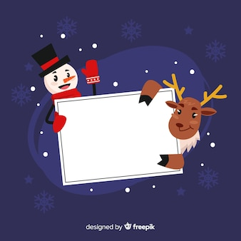 Christmas frame template with santa