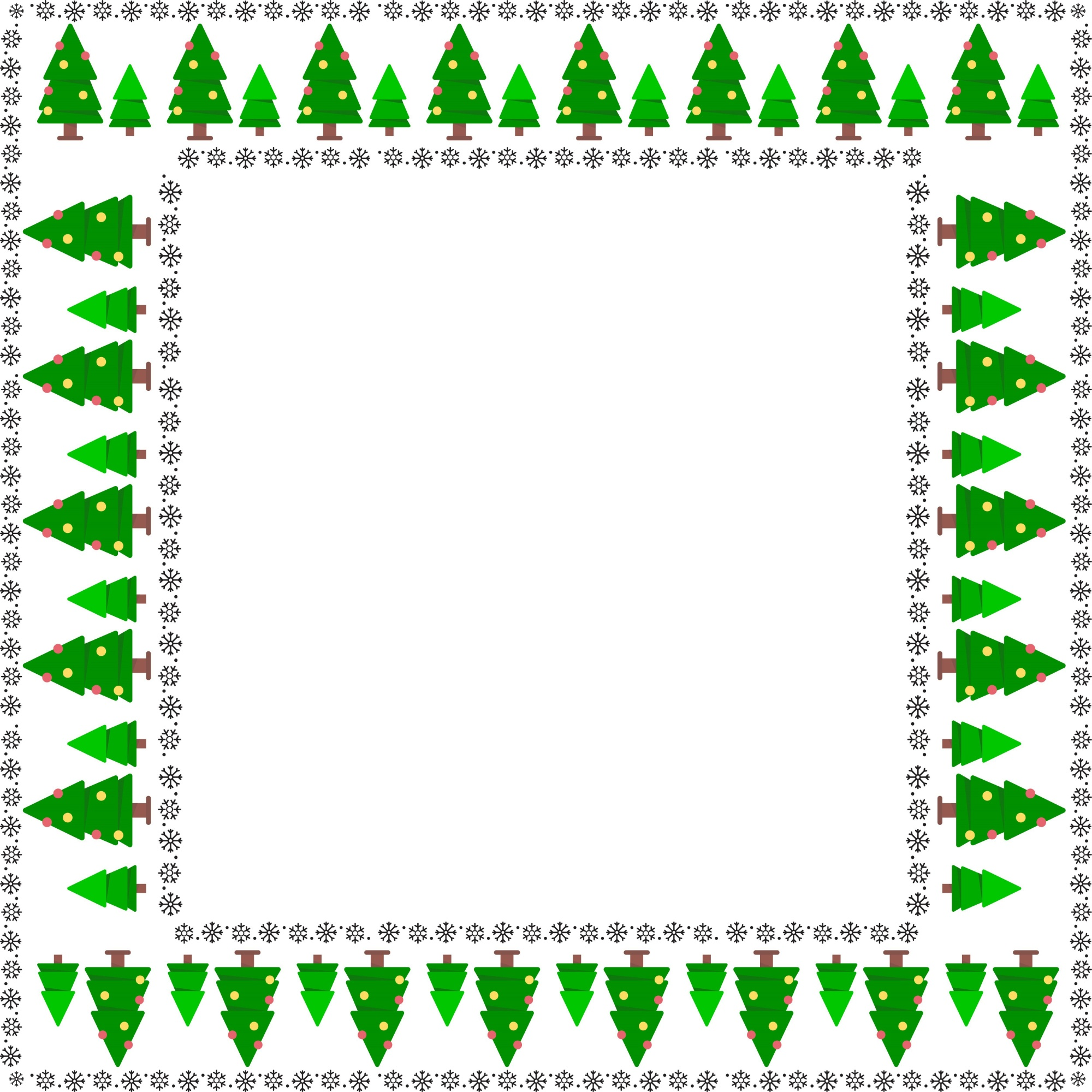 Christmas frame tree