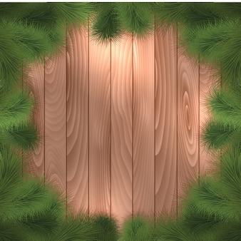 Рождественская рамка с дерева