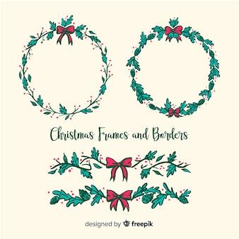 Christmas frames and borders collection