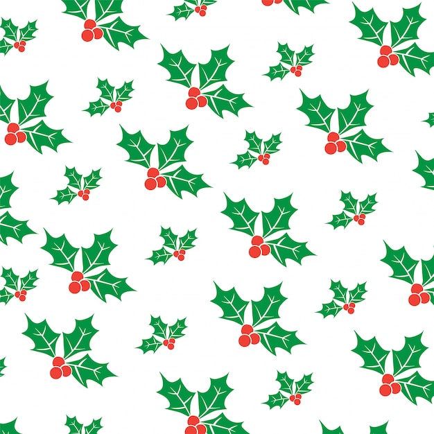 Christmas fruit pattern