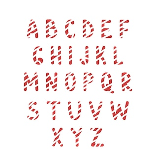 Christmas fun font candy cane letters