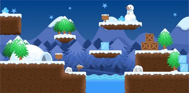 Christmas game tileset