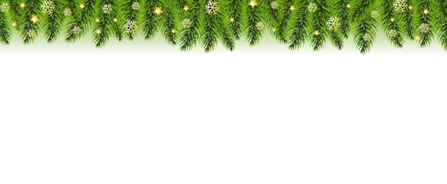 Christmas garland and christmas golden stars