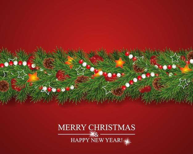Рождественская гирлянда, украшенная ягодами падуба