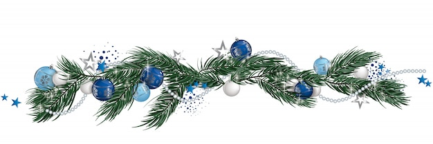 Christmas garland isolated