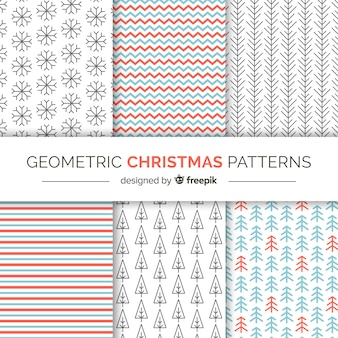 Christmas geometric patterns