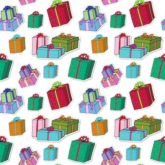 Christmas gift boxes pattern