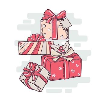 Christmas gift boxes set