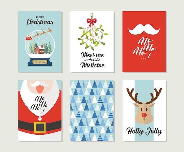 크리스마스 선물 카드 또는 글자와 태그
