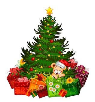 Рождественский подарок рождественский подарок елка