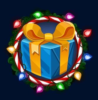Рождественский подарок в рамке