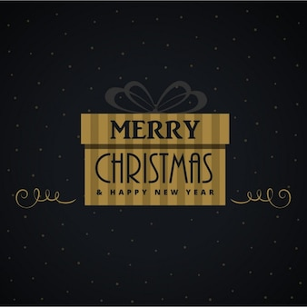 Christmas gift on a black background