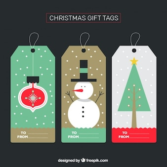 Christmas gift tags collection