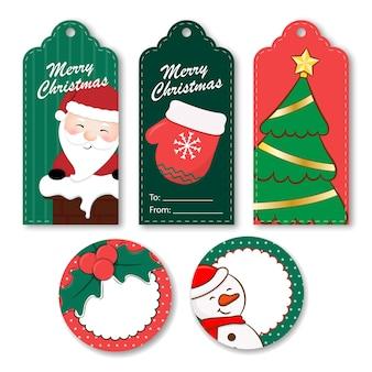 Рождественские подарочные бирки
